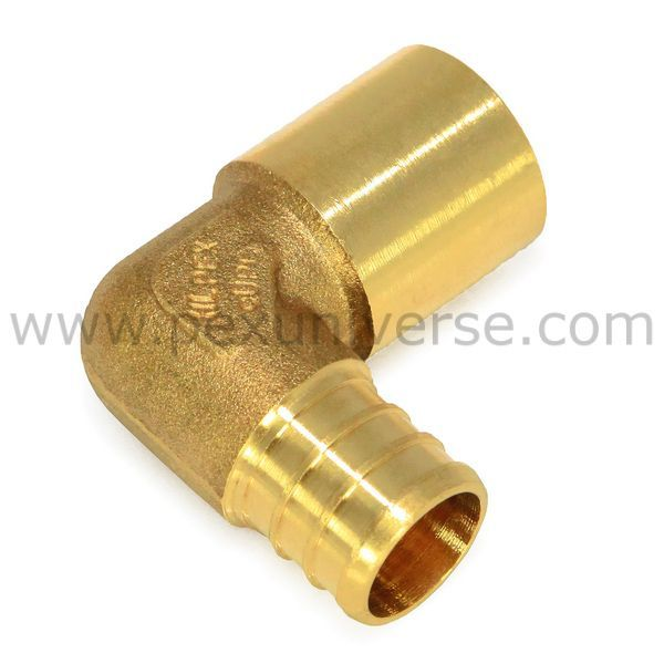 1 2 pex x 1 2 copper fitting elbow pex fittings for Pex pipe to copper