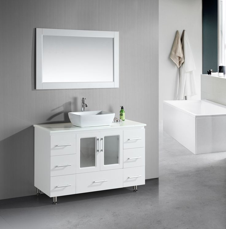 modern white bathroom cabinets. Stylish Modern White Bathroom Vanities Stanton 48 Inch Vanity Porcelain Vessel Sink - Whichever Kind Of Design That You Desire Ensure Y Cabinets S