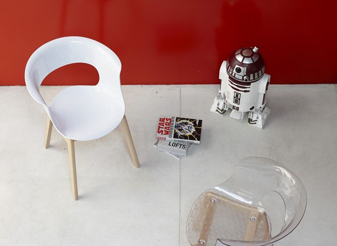 Miss B Chair Natural - White & Smoked - Scab Design