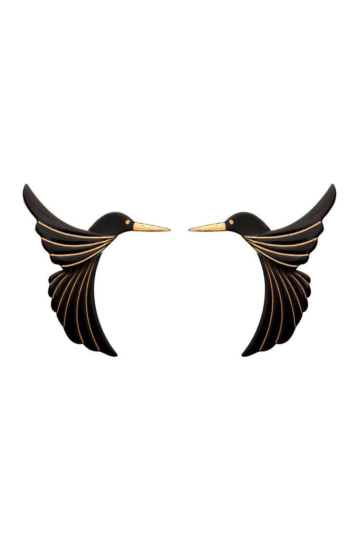 Erstwilder ; Halcyon Hummingbird Earrings $19.95