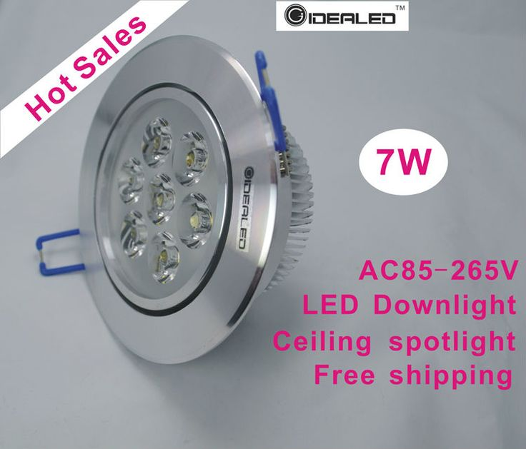 Free shipping 7W LED ceiling light with driver  6pcs/lot, best price LED down light 3.5inch led ceiling spotlight factory outlet #Affiliate
