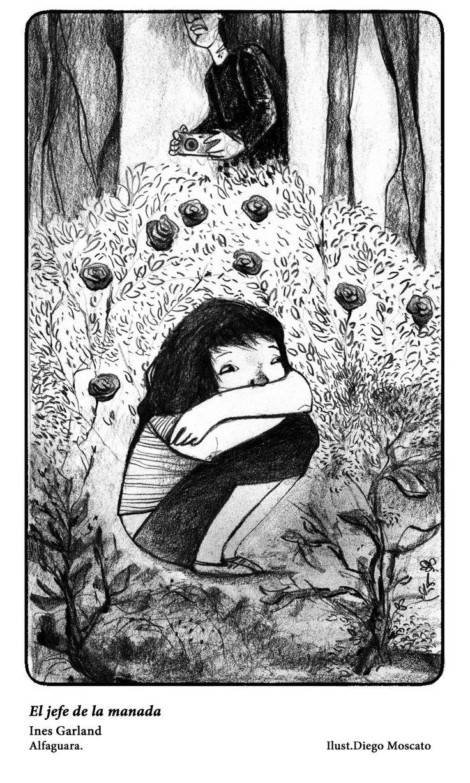 "Ilustracion de la novela"" El jefe de la manada"""