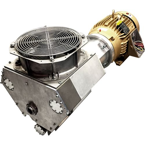 P25H074A-AC-SH - Semi-hermetic oil-free scroll compressor for smooth operation with gases other than air.