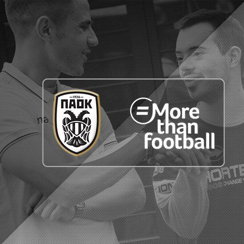 #PAOK proudly takes part in #MoreThanFootball Action Week. #PAOKaction https://t.co/v1LDabhM0A