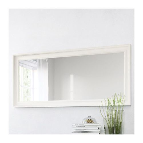 The Hemnes Mirror in white from IKEA retails for $79 and is a look alike for the Pottery Barn Classic Double Wide Mirror that sells for $399.