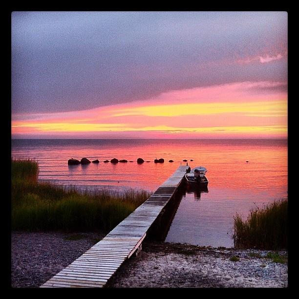 Sunset at Sandhamn, Gotland