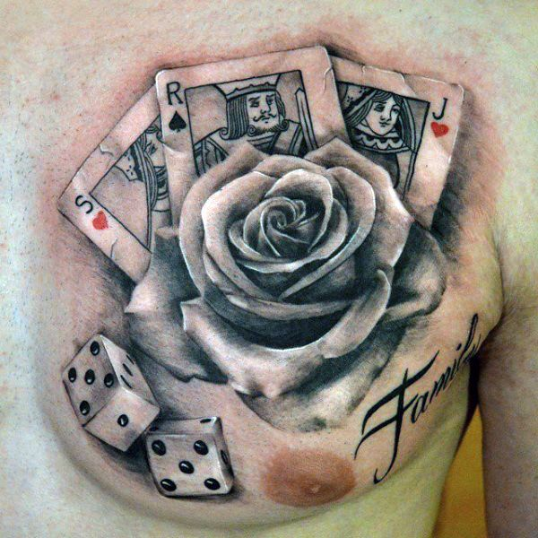 forearm crossword tattoos gambling game card