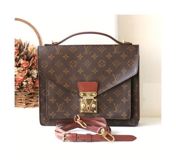 Louis Vuitton Bag Monogramm Monceau Brown Tote Schulter von hfvin