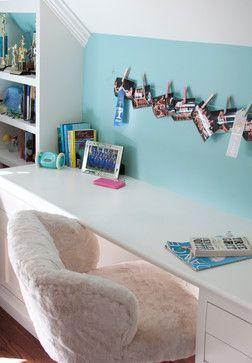 desk detail // Pink and Aqua Teen Bedroom