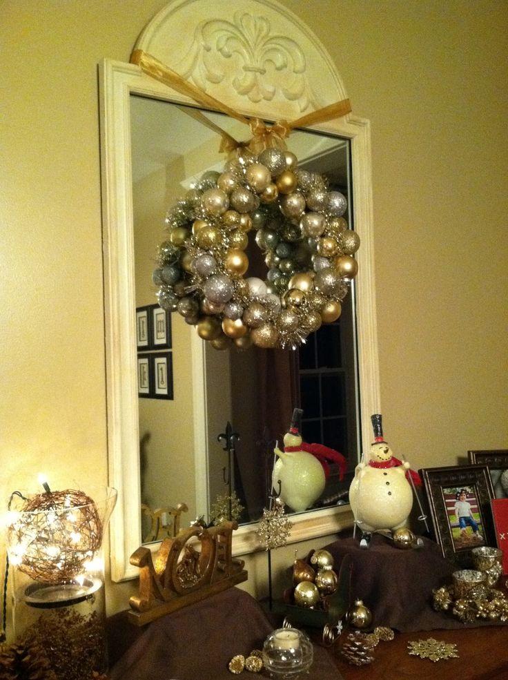Christmas Ball Wreath From Wire Hanger Diy Jpg 1 195 215 1 600