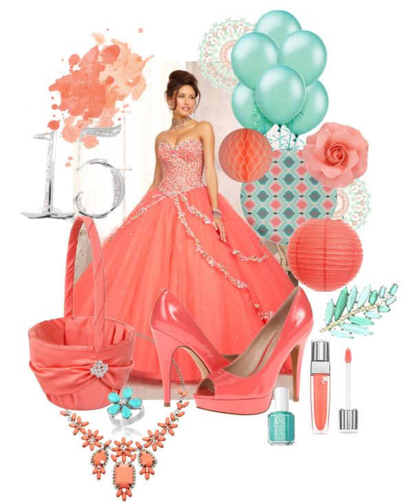 Coral and Aqua Sweet Fifteen Theme