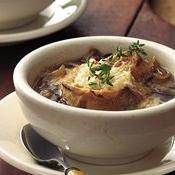 Slow-Cooker Rustic French Onion Soup recipe from Betty Crocker