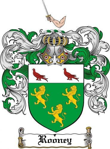 Rooney Coat of Arms Rooney Family Crest Instant Download - for sale, $7.99 at Scubbly