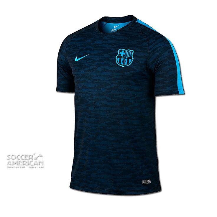 nike fc barcelona flash training cl jersey blacklight current blue 2017 spain