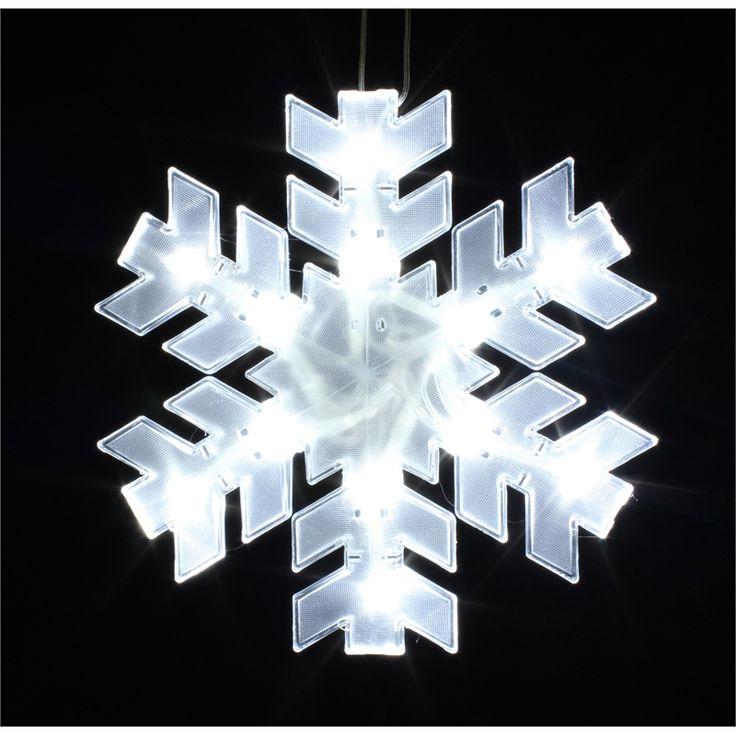 Yale 12 LED Festive Silhouette White Snowflake I/N 4351593   Bunnings Warehouse