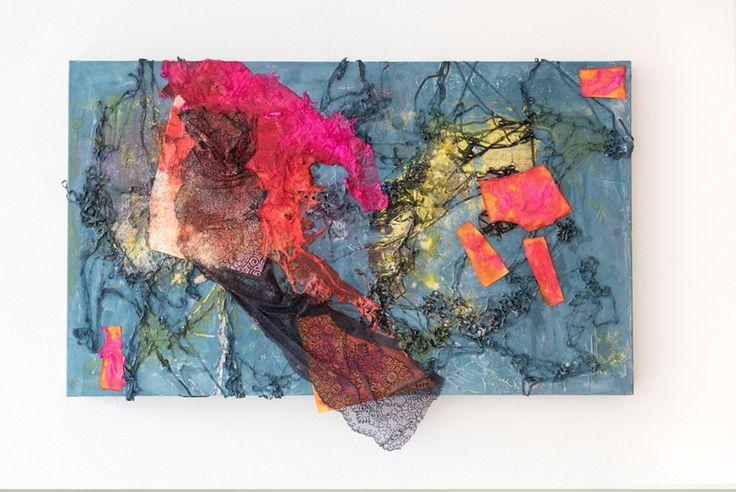 "Elisa Carreno - ""Not a nine to five job!""- Paper, fabric, glitter, crayon powder, acrylic painting and ink on canvas, 100cm x 60cm, 2017. www.elicarreno.com   #art #arte #painting #paint #pintura #pintura #colagem #collage #elisacacrreno #artgallery #callforart"