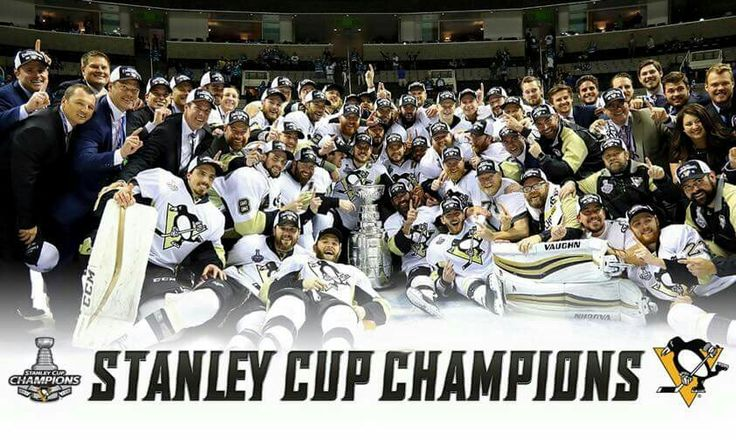 Pittsburgh Penguins  June 12, 2016. Penguins win the Stanley Cup for the 1st time since 2009. They defeated the San Jose Sharks 4-2 in a Game 6. Pittsburgh Penguins Stanley Cup Champions 2016!