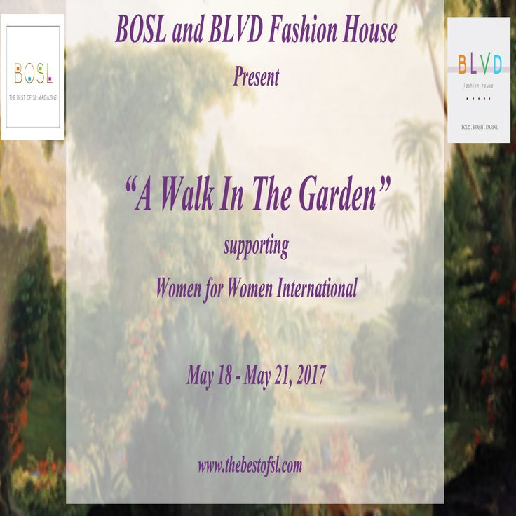 https://flic.kr/p/TvFa7w   BOSL_BLVD A Walk In The Garden Event  May 18-21, 2017   Taxi: maps.secondlife.com/secondlife/The%20Renaissance%20Galler...