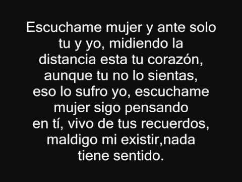 Fondo flamenco - Escuchame mujer (Con Letra) - YouTube