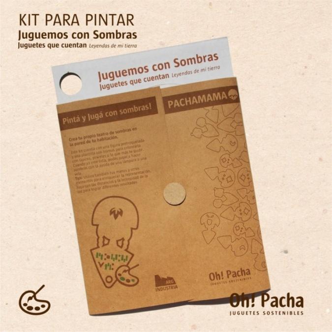Kit para Pintar PACHAMAMA  Juguemos con Sombras!