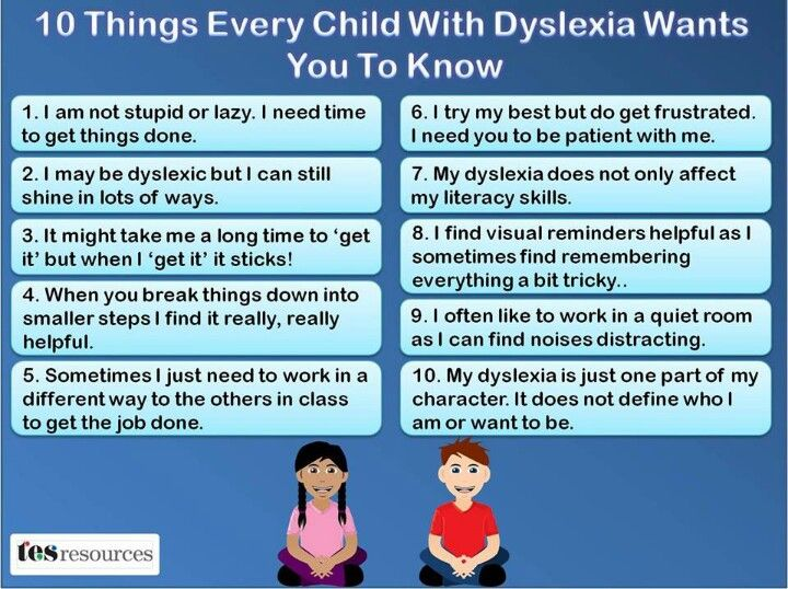 Dyslexia-wish all schools would take this in mind!