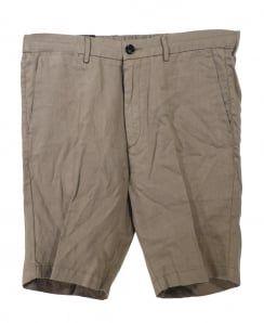 Hugo Boss Khaki Beige Yaron Linen Shorts