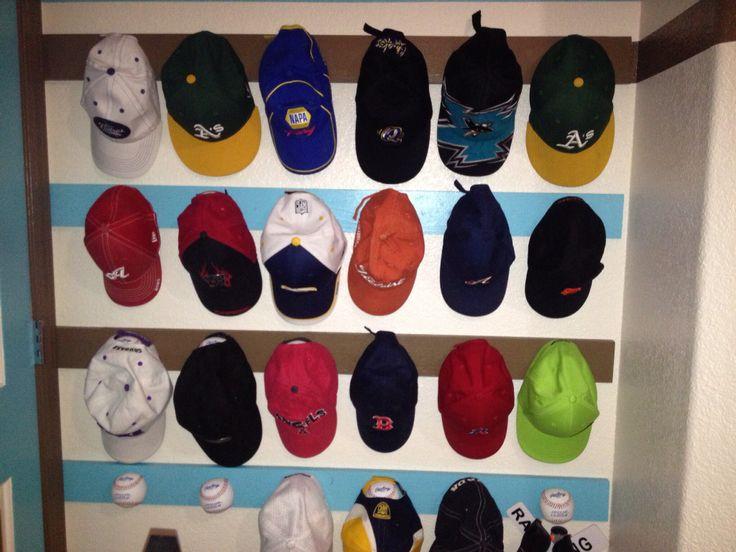 Best 25+ Baseball Cap Rack Ideas On Pinterest   Baseball Hat Organizer,  Organize Hats And Hat Racks