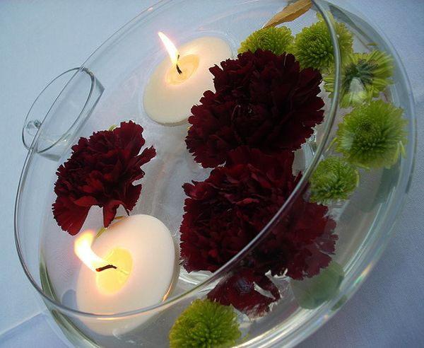 outdoor wedding centerpieces ideas | Ideas for Romantic LED and Candle Beach Wedding Centerpieces | Lights ...