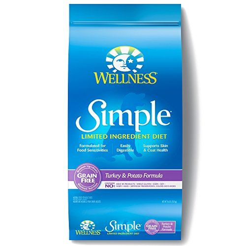 Wellness Simple Natural Grain Free Dry Limited Ingredient Dog Food, Turkey   Potato, 26-Pound Bag * See this great product.