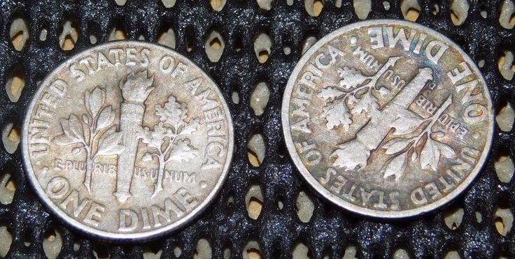 Two SILVER Dimes U.S. 1946 & 1958 G to VG