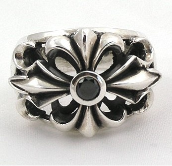 Chrome Hearts ring with black diamond