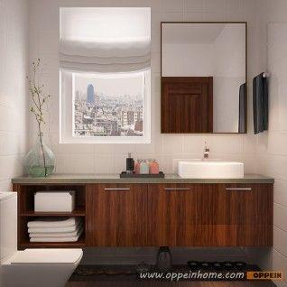 FC16-M01: Smart Design de grano de madera Gabinete de baño