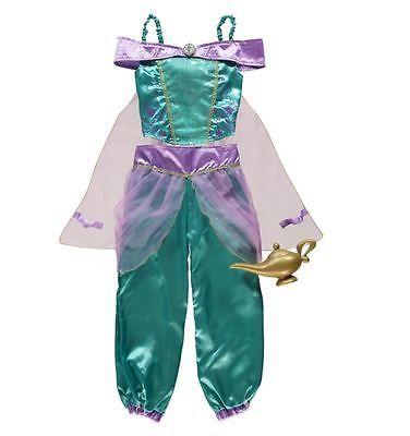 Brand New Girls Disney Princess Jasmine Fancy Dress Up Costume