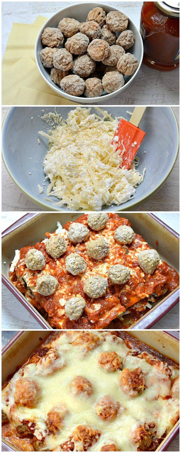 Need an easy dinner idea? Use frozen meatballs to make this easy lasagna recipe in just about 30 minutes!