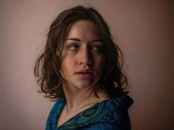 Mer Enn Trendy Ideer Om Hyper Realistic Paintings På Pinterest - Artist creates stunning hyper realistic paintings of women