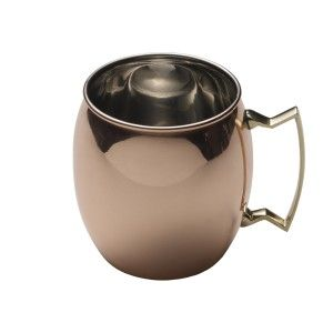 Mikasa Moscow Mule Copper Barrel Mug with Brass Handle, 16-Ounce This mug is ideal for enjoying cool, refreshing drinks year round. 16-ounce barrel mug with brass handle; copper exterior; food-safe nickel interior. http://bitly.com/1KhBwqk