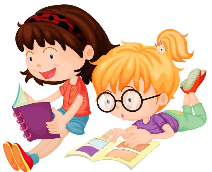 Дети и книги картинки анимашки