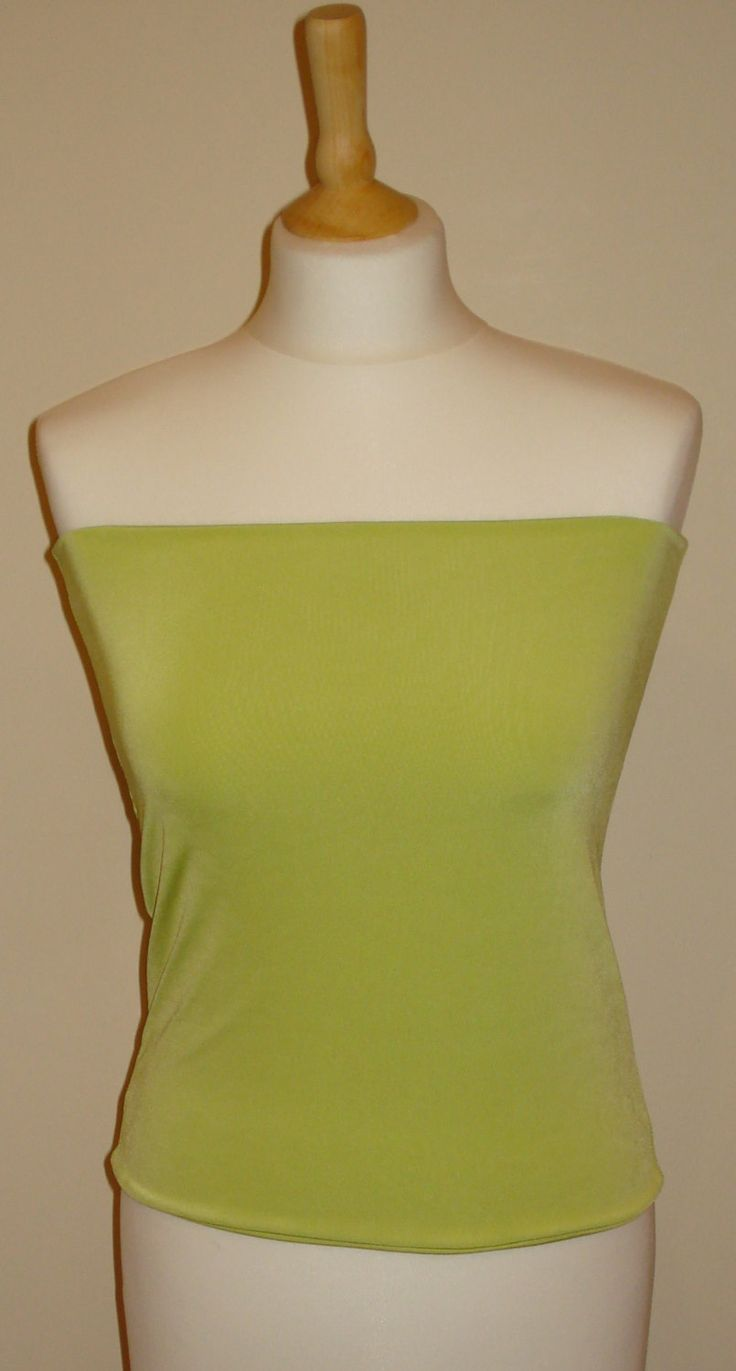 Lime green bandeau top crop top vest top boob tube top to wear with wrap twist infinity convertible dress by stitchawayrose on Etsy