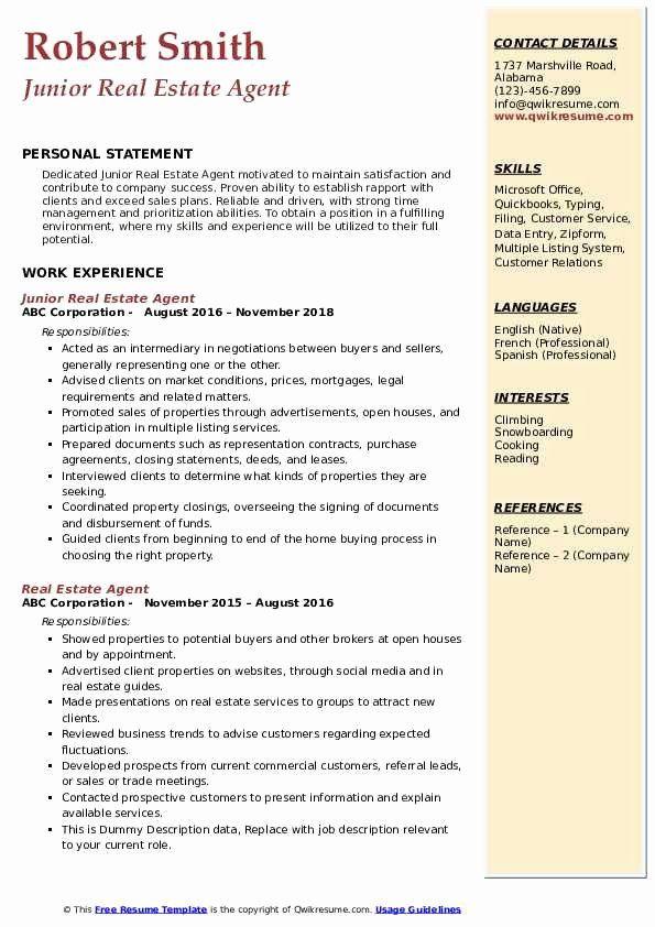 Real Estate Agent Resume Job Description Fresh Real Estate Agent Resume Samples Security Guard Jobs Administrative Assistant Job Description Job Description
