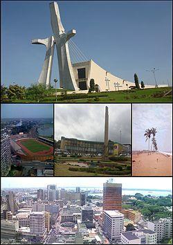 Costa de Marfil Abiyan Vista aérea del barrio de Plateau.