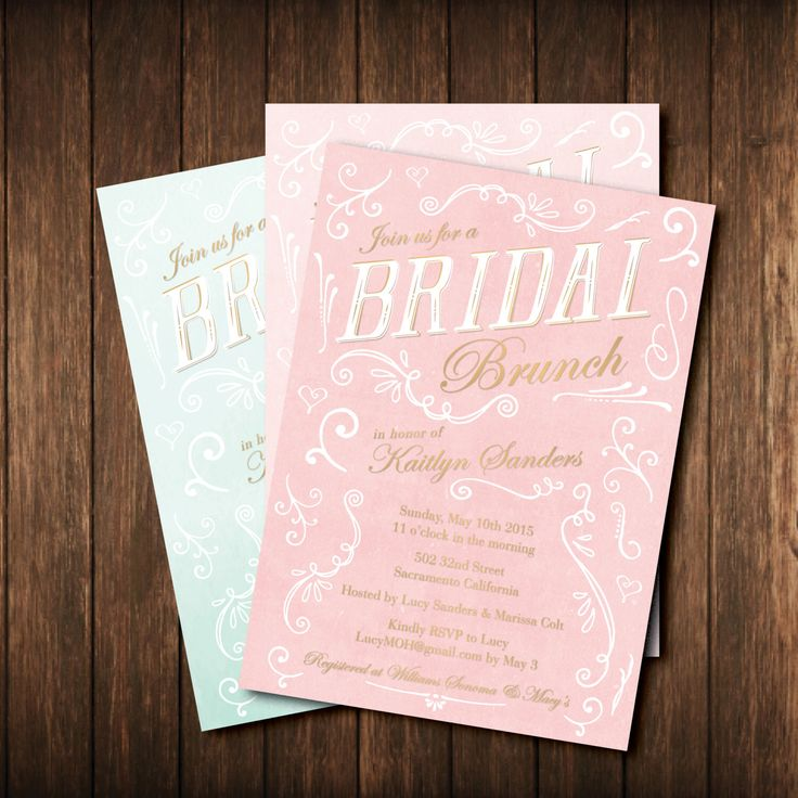 bridal shower invitations with recipe card attached%0A Bridal Brunch Shower Invitations  Vintage Royal Classical Feminine   Antique Gold  Blush Pink