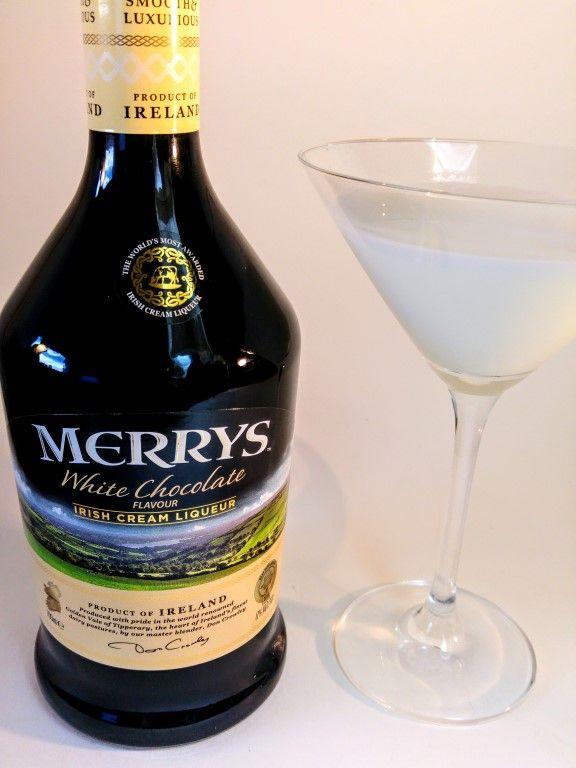 Merry's witte chocolade wodkatini