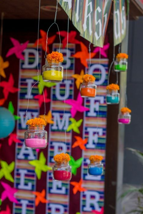 Hanging diwali decorations
