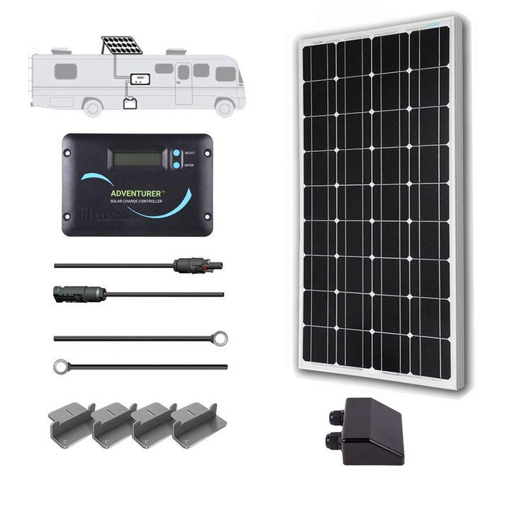 100 Watt 12 Volt Monocrystalline Solar RV Kit | Renogy Solar