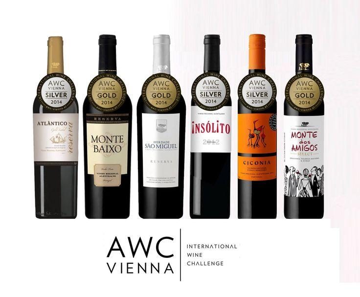 Estes foram os vinhos da Casa Agrícola Alexandre Relvas premiados no AWC Vienna 2014, em prova cega entre 12.352 vinhos do mundo. See Translation — at Rathaus Wien, Vienna City Hall.