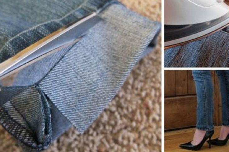 Avec cette technique, vous n'aurez plus à payer pour faire un ourlet à un jeans trop long! - Trucs et Astuces - Des trucs et des astuces pour améliorer votre vie de tous les jours - Trucs et Bricolages - Fallait y penser !
