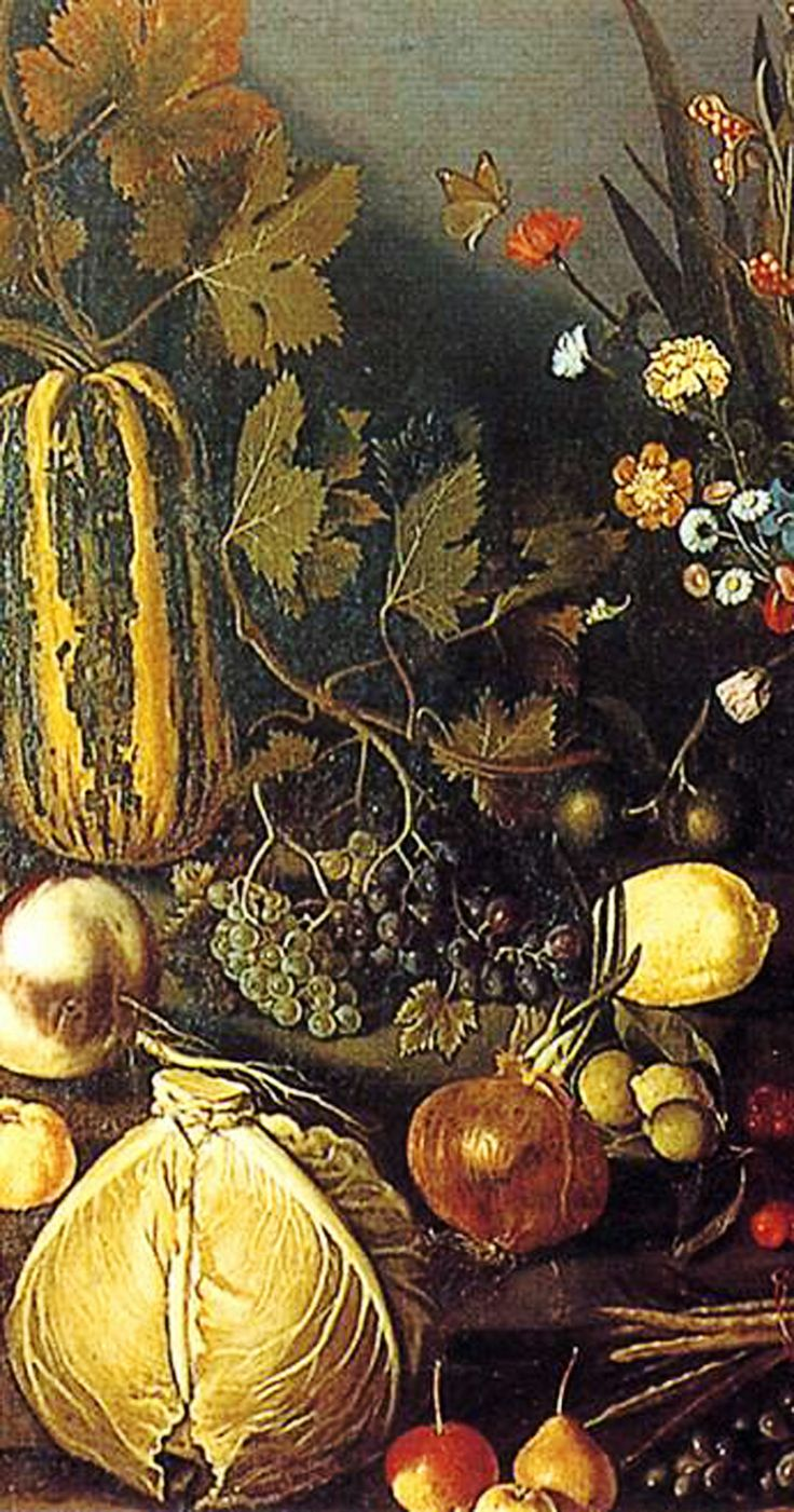 Still Life with Flowers and Fruit_Caravaggio