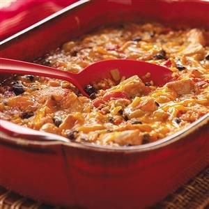 Pork and Green Chili Casserole Recipe -I work at a local hospital and also part time for some area doctors, so I'm always on the lookout for good, quick recipes to fix for my family. Some of my co-workers and I exchange recipes. This zippy casserole is one that was brought to a picnic at my house. People raved over it. —Dianne Esposite, New Middletown, Ohio