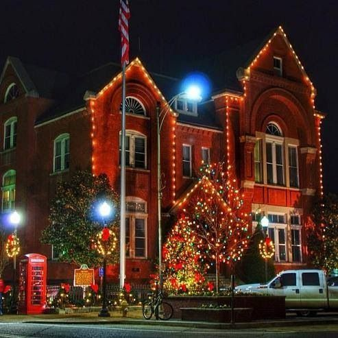 Christmas in Oxford, Mississippi, home of the Rebels!