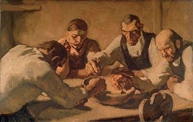 EGGER-LIENZ, Albin 1868 – 1926 Die Mahlzeit, 1920